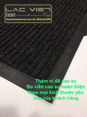 Thảm nỉ đế cao su màu đen TN06
