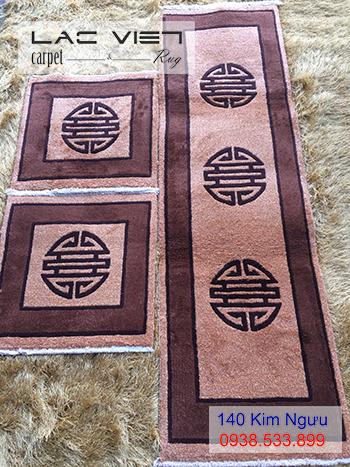 Thảm ghế len dệt tay TG015