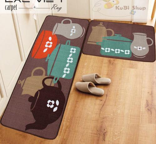 Thảm trải sàn nhà bếp cho không gian luôn sạch đẹp