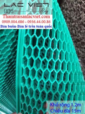 Thảm nhựa lưới tổ ong màu xanh LVT 421