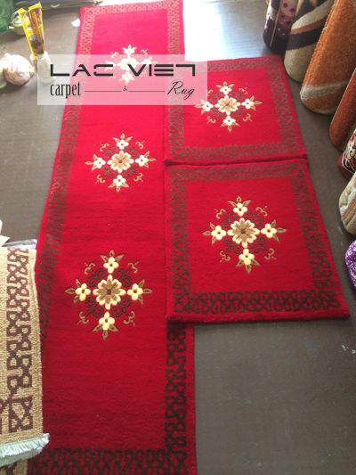 Thảm ghế len dệt tay cao cấp TG018
