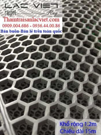 Thảm nhựa lưới tổ ong màu ghi LVT 425