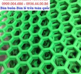 Nhựa lưới tổ ong màu xanh lá LVT 426