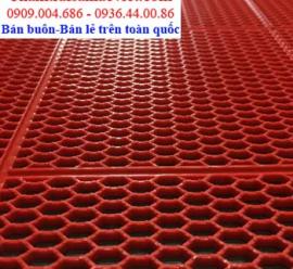Nhựa lưới tổ ong thoát nước màu đỏ LVT 422