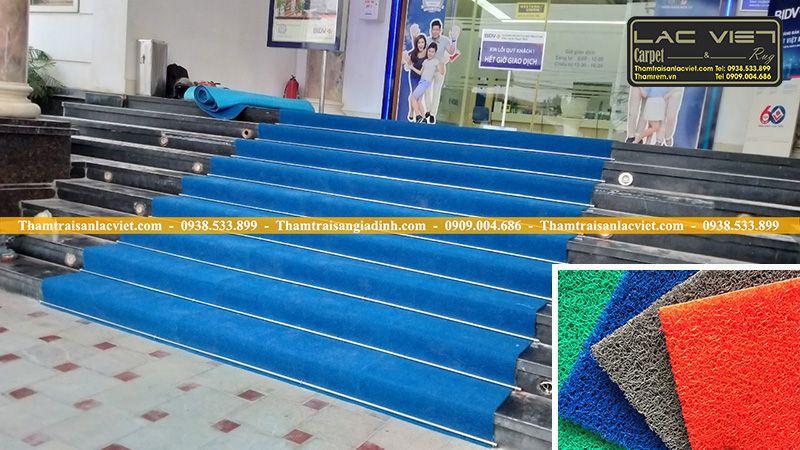 chống trơn trượt cầu thang ngân hàng bidv