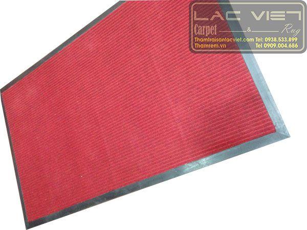 thảm chui chân đế cao su màu đỏ