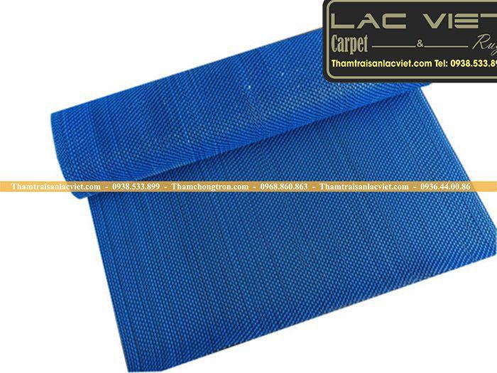 Thảm nhựa lưới zic zac xanh dương LVT 325