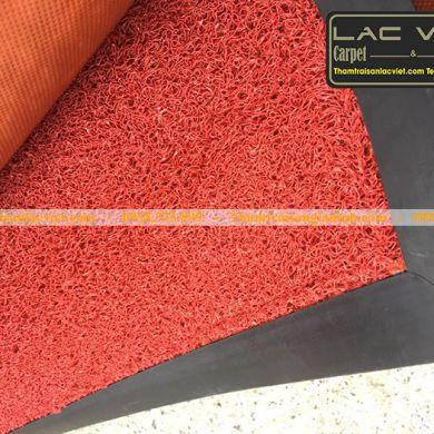 Thảm chùi chân nhựa rối 3m màu cam