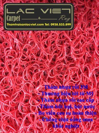 Thảm nhựa rối 3M màu đỏ
