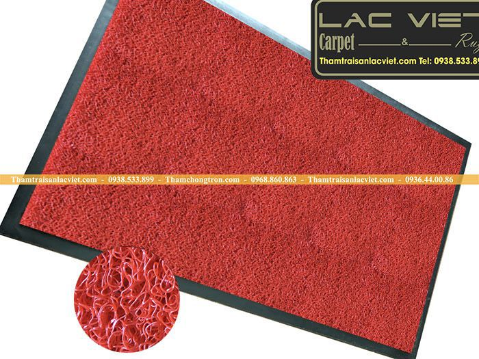 Thảm sợi rối màu đỏ