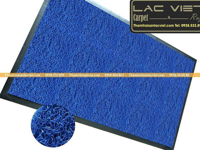 Thảm sợi rối màu xanh dương giá rẻ