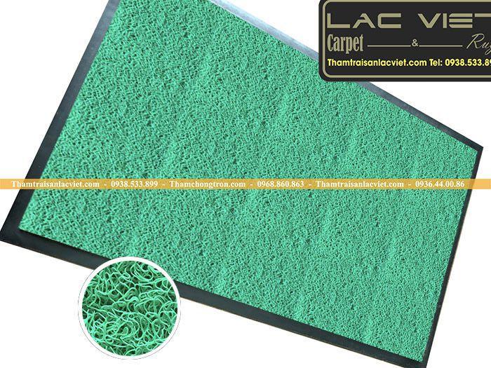 Thảm sợi rối màu xanh lá