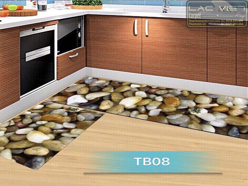Thảm bếp họa tiết sỏi đá TB008