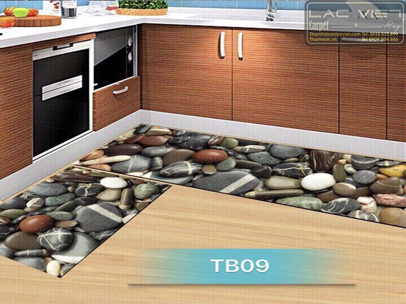 Thảm trải sàn nhà bếp họa tiết đá cuội TB009