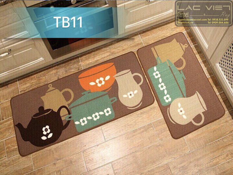Thảm trải sàn nhà bếp hình ấm tích TB011