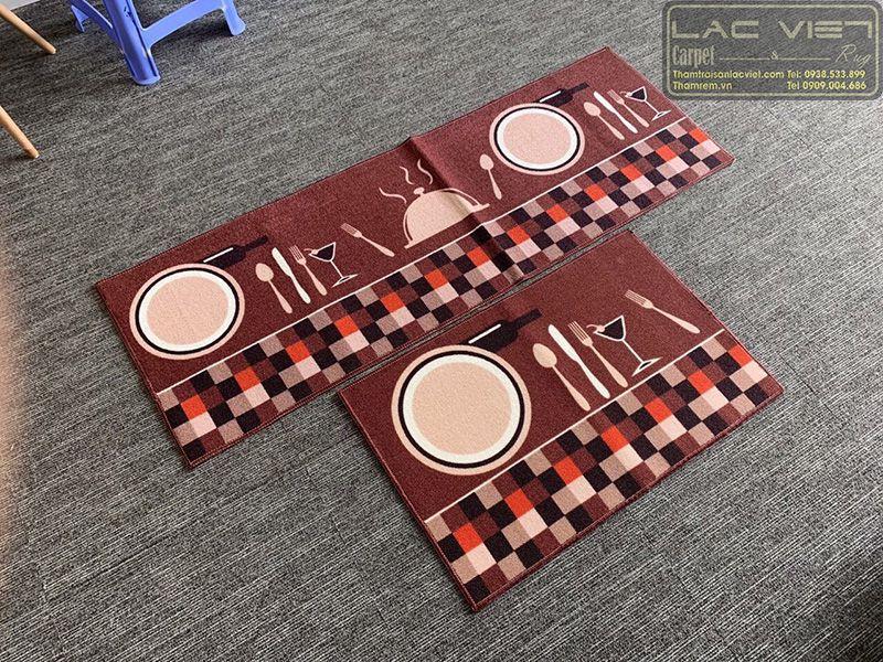 Thảm trải sàn nhà bếp hình thìa dĩa TB003