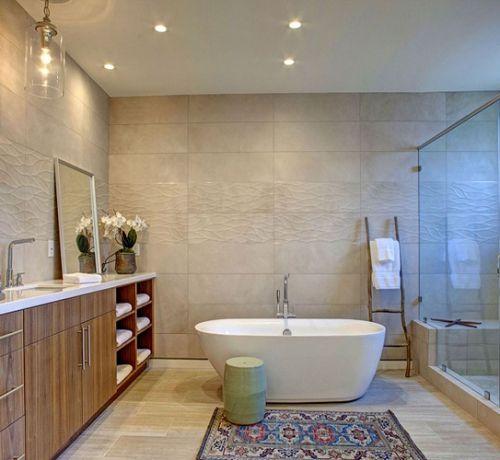 Tấm nhựa trải sàn nhà giá rẻ – Giải pháp thay thế cho gạch men nhà tắm