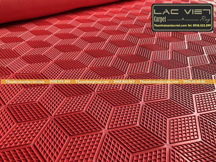 Thảm chống trơn hành lang LV631 màu đỏ