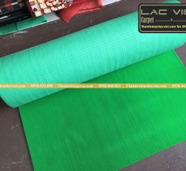Thảm nhựa gai sầu riêng xanh lá