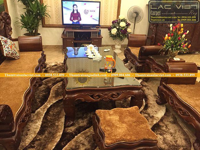 4 mẫu thảm trải ghế gỗ đẹp cho phòng khách sang trọng