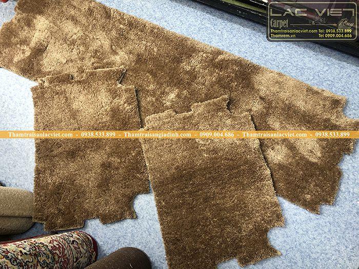 Thảm lông trải ghế gỗ 12