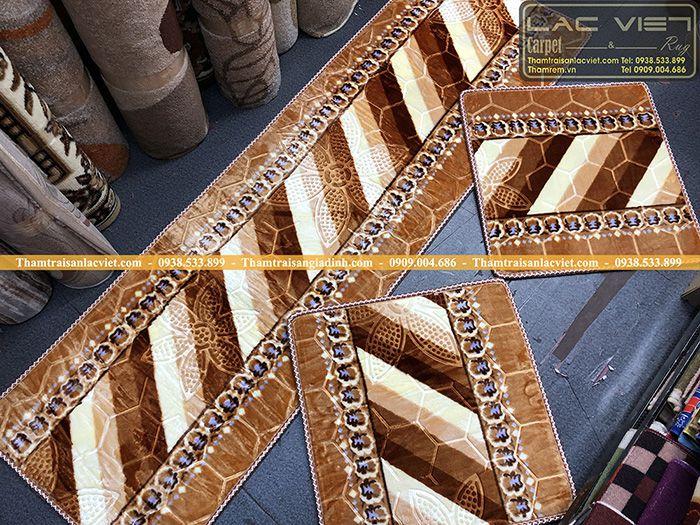 Thảm trải ghế gỗ giá rẻ nhung mịn