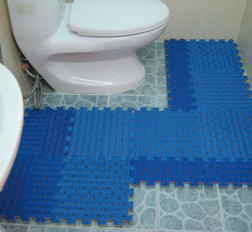 3 cách biến hóa với thảm nhựa nhà tắm ghép miếng