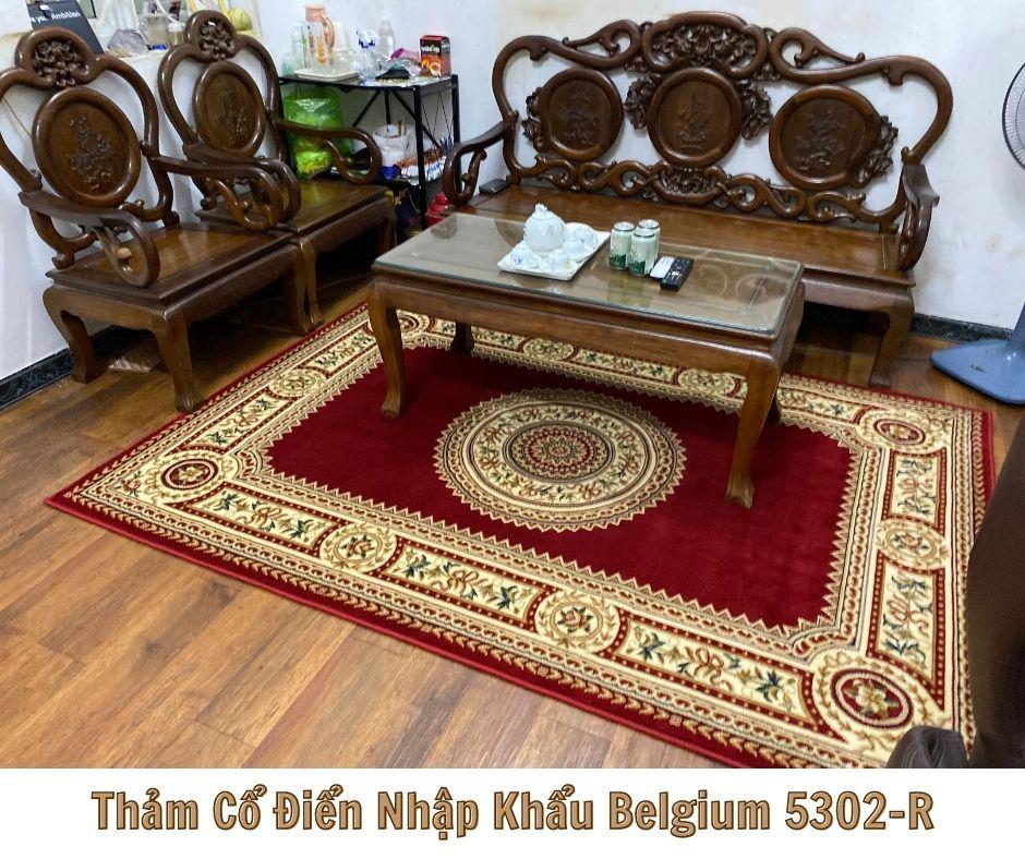 Thảm hoa văn cổ điển belgium-5302-R