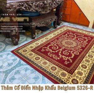 Thảm hoa văn cổ điển belgium-5326-R
