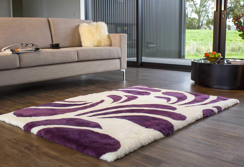 Bốn mùa cùng thảm lông trải sàn phòng khách
