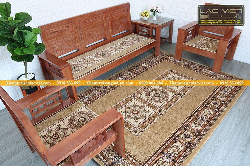 Mua thảm trải bàn ghế gỗ hay nệm ghế salon gỗ