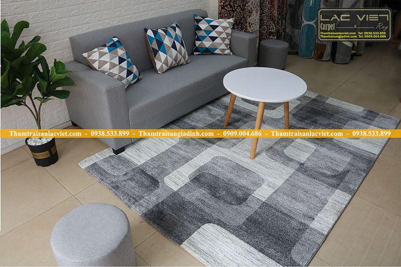 Thảm trải phòng khách LAM-463-grey