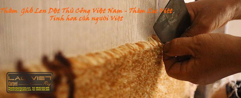 Thảm ghế len dệt tay Việt Nam